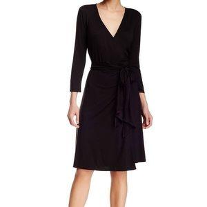 Max Studio Black Wrap Dress (NWT) Size Large